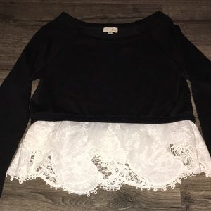 Madison Jules black and white sweater size small
